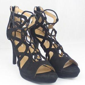 Report Laxy Lace-up Platform Sandals Black 12M